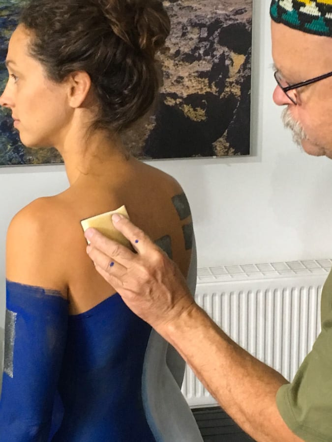 Werbefotografie Bodypainting Making of