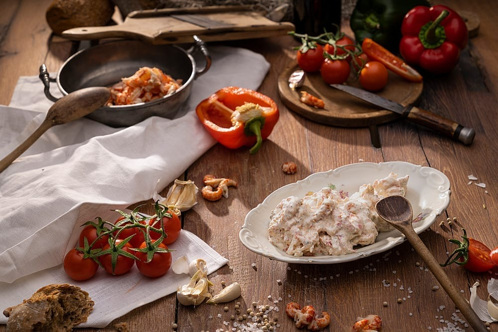 Produktfotograf Foodfotograf Fisch Marcel Mende Salate Flusskrebs Foodfotografie Fischfotograf Produktfotografie